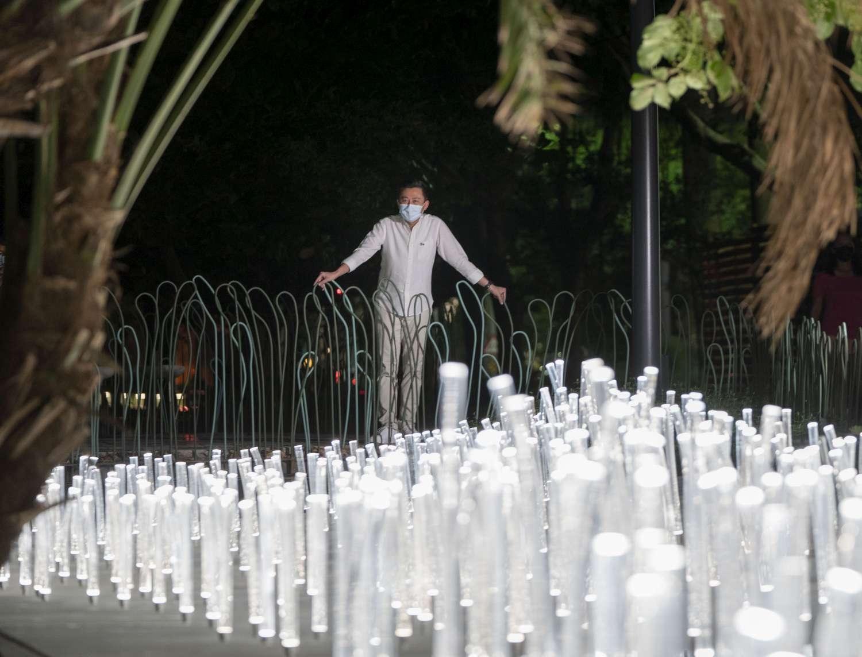 新竹市長林智堅與香港WHITEGROUND團隊作品「The Wishing Field光圳」。