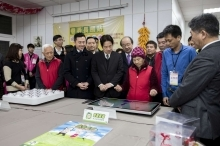 Premier Lai and Mayor Lin visited Leling Hsinchu City Branch.4