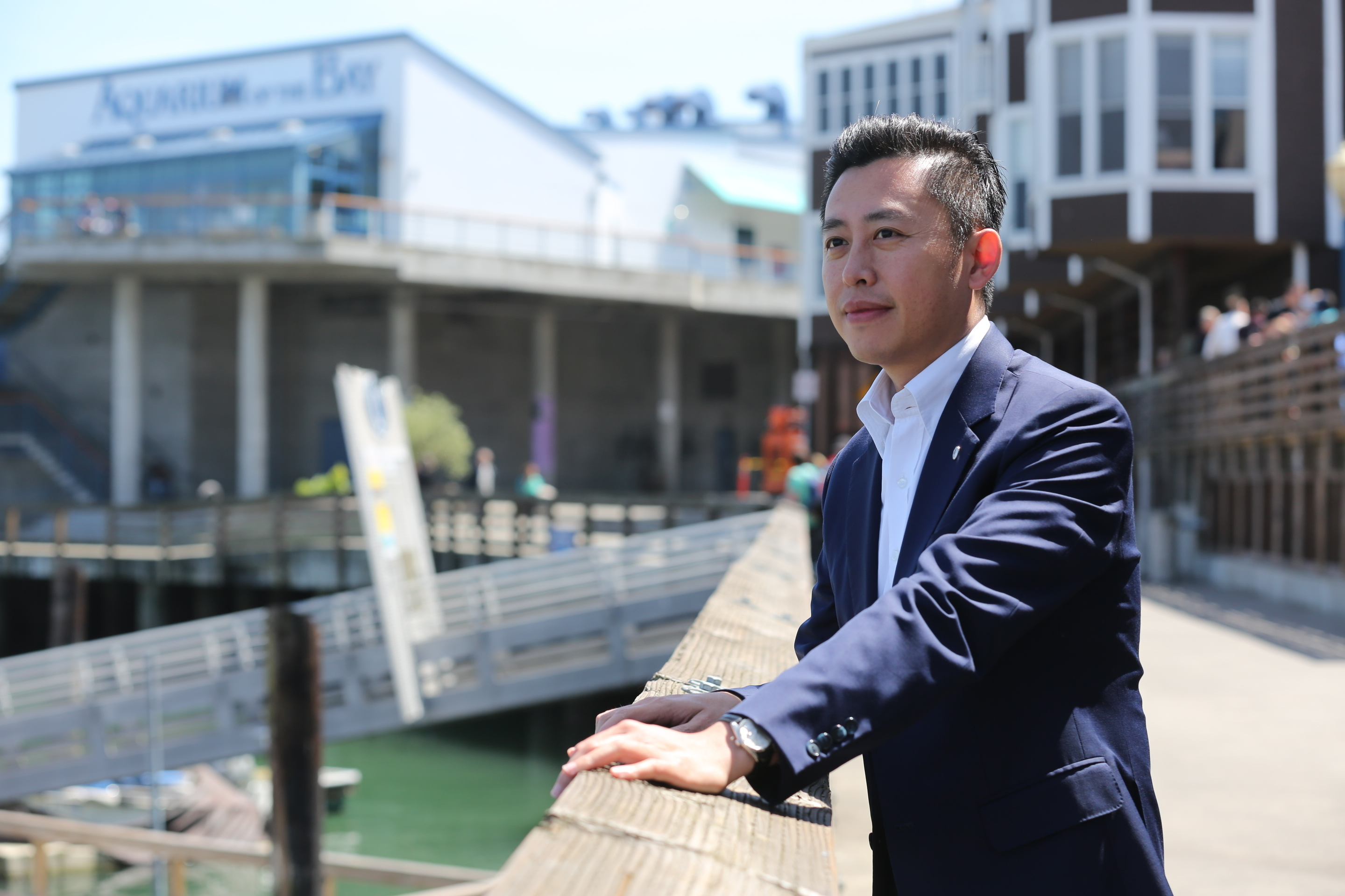 Borrowing Ideas from San Francisco Fisherman's Wharf; Hsinchu City Mayor Lin Chih-chien: Improve Tourism, Recreation, and Fishery